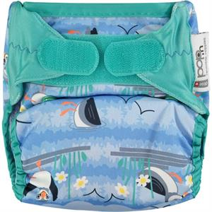 Pañal de tela reutilizable Pop-in Blue Puffin